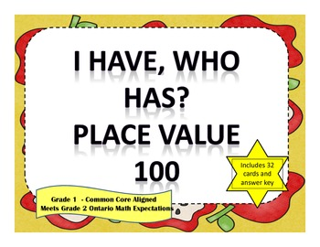 I Have Who Has Place Value to 100