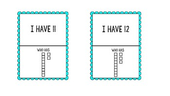 I Have Who Has? Place Value to 20. Two differentiated versions!
