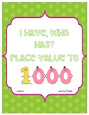 I Have, Who Has: Place Value to the Thousands