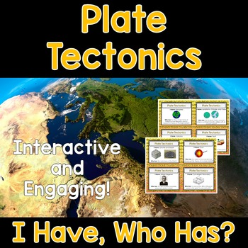 Plate Tectonics - I Have, Who Has?