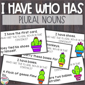I Have, Who Has - Plural Nouns