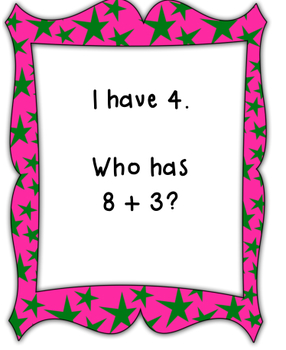 I Have, Who Has Plus 3-CCSS Aligned