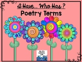 I Have...Who Has ? (Poetry Terms)