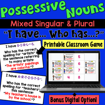 Possessive Nouns I Have Who Has Game (singular AND plural)