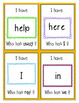 I Have Who Has - Pre Primer Dolch Sight Words