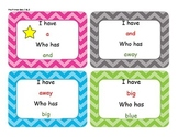 I Have, Who Has Pre-primer sight word games