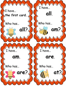 I Have, Who Has? Primer Edition - Bee theme