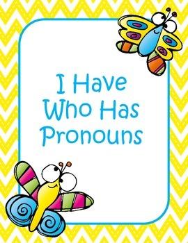 I Have Who Has Pronouns