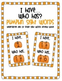 I Have Who Has Pumpkin Sight Words