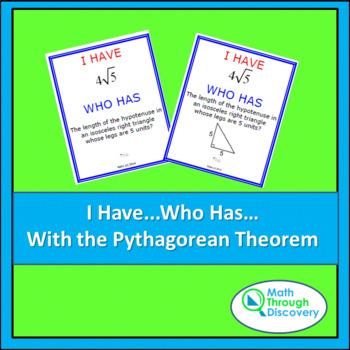 I Have... Who Has...Cards-  Pythagorean Theorem