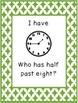 I Have Who Has Quarter Hour Clock Game