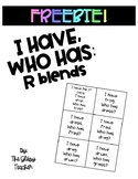 I Have, Who Has: R Blends game freebie