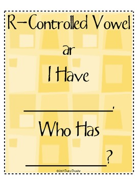 I Have Who Has: R-Controlled Vowel: ar Combination