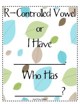 I Have Who Has: R-Controlled Vowel: or Combination