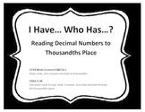 I Have Who Has (Read Decimals)