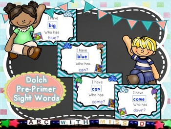 I Have Who Has Reading Game-Dolch Pre-Primer Sight Word Activity