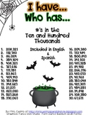 I Have, Who Has - Reading Large Numbers - Bilingual Freebie - Halloween Theme