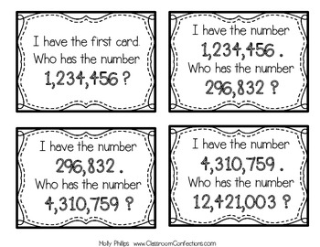 Place Value - I have who has