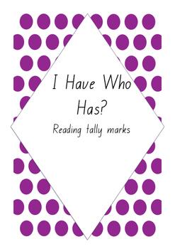 I Have Who Has Reading Tally Marks