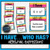 Reading and Writing Algebraic Expressions: I Have Who Has Activity, Algebra 1