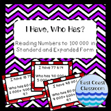 I Have, Who Has? Reading numbers to 100 000 in standard an