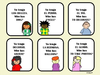 I Have, Who Has? Realidades Ch. 5A Vocabulary Review Game