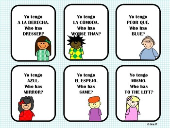 I Have, Who Has? Realidades Ch. 6A Vocabulary Review Game