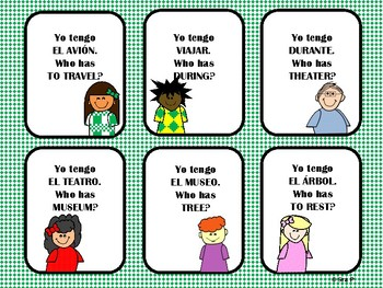 I Have, Who Has? Realidades Ch. 8A Vocabulary Review Game