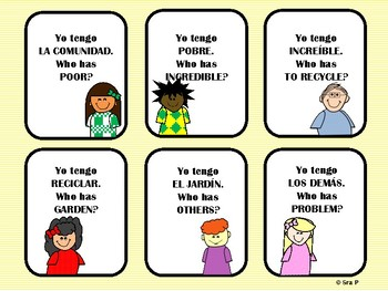 I Have, Who Has? Realidades Ch. 8B Vocabulary Review Game