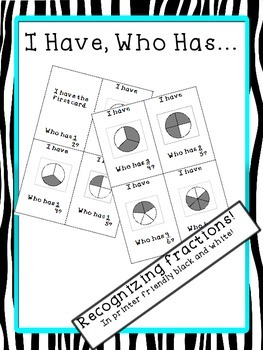 I Have, Who Has Recognizing Fractions
