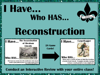 I Have..Who Has.. Reconstruction