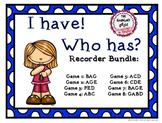 I Have! Who Has? - Recorder Bundle