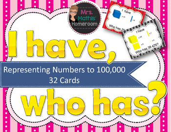 I Have, Who Has: Representing Numbers to 100,000