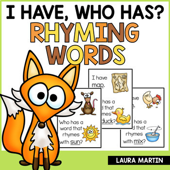 I Have, Who Has-Rhyming Words