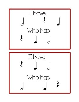 I Have, Who Has Rhythm Edition: Half Note