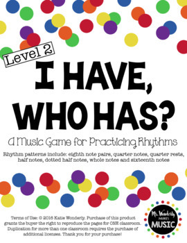 I Have, Who Has? Rhythm Game: Level 2