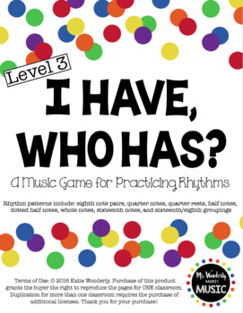 I Have, Who Has? Rhythm Game Bundle