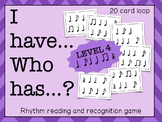 I Have... Who Has...? Rhythm Game (Dotted Quarter Note & E