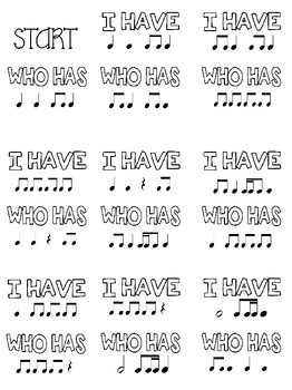 I Have, Who Has? Rhythm Game: Level 3