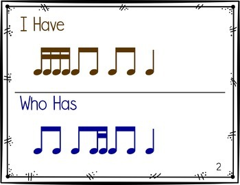 I Have, Who Has Rhythm Game: Ti-Tika