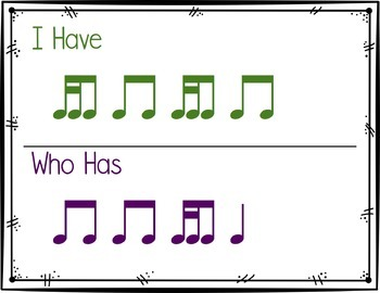 I Have, Who Has Rhythm Game: Tika-Ti