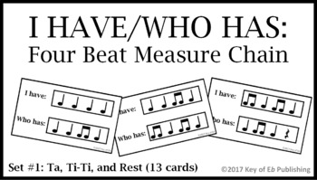I Have Who Has Rhythm Motive Chain Game