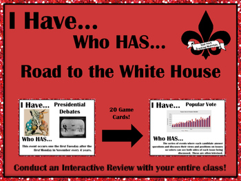 I Have..Who Has..Road to the White House!