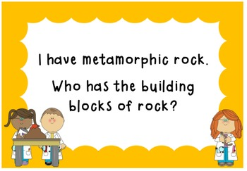 I Have, Who Has Rocks and Minerals- A whole class science game!