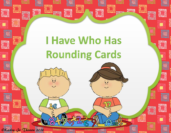 I Have Who Has Rounding Cards