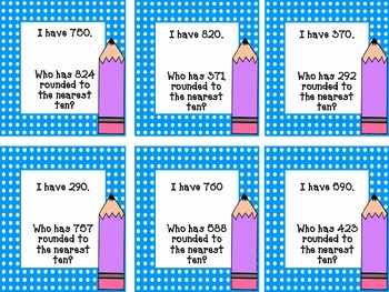 I Have, Who Has? Rounding Numbers to the Nearest Ten {CCSS Aligned}