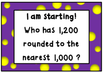 I Have, Who Has Rounding to the Nearest 1,000 (four and five digit numbers)