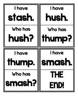 I Have. Who Has? (SH and TH Digraphs)