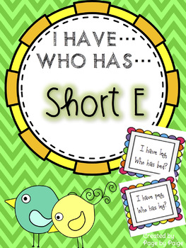 I Have, Who Has SHORT VOWELS- BUNDLE!!!
