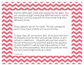 Sight Words I Have Who Has SIPPS Game - Set 7
